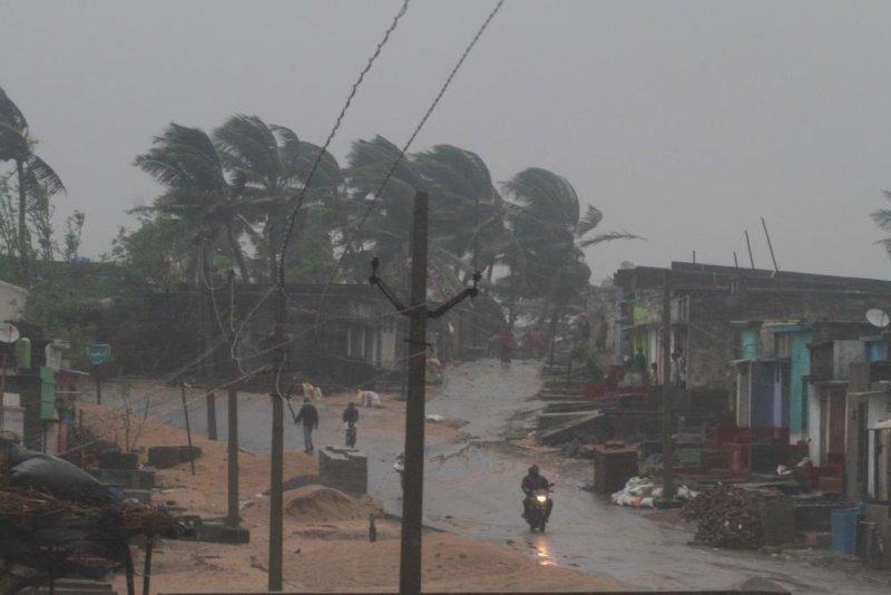 Cyclone Titli made landfall on India's eastern coast Thursday, killing 8 people. Photo by EPA-EFE
