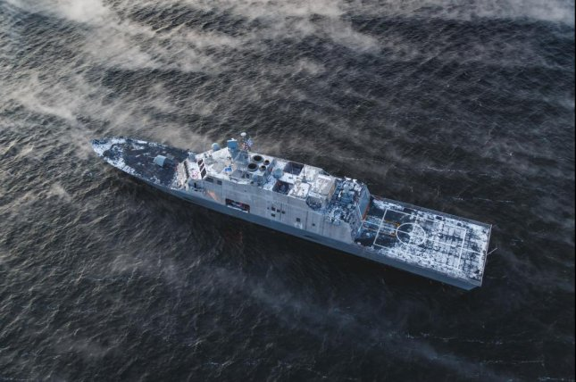 USS St. Louis, shown here during acceptance trials in December, was officially received by the U.S. Navy at a ceremony this week. Photo courtesy of Lockheed Martin