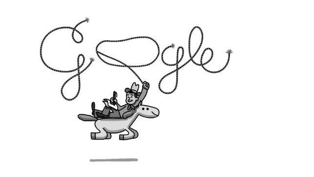 Google is paying homage to actor and personality Will Rogers with a new Doodle. Image courtesy of Google