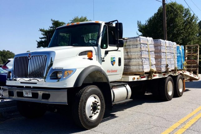 The Georgia Forestry Commission transported six pallets of water and MREs to south Georgia to support state Hurricane Irma preparations. Officials in Georgia, South Carolina, Tennessee and Alabama said Sunday their states are preparing for winds and flooding from the storm as it moves to the north. Photo courtesy Georgia Emergency Management & Homeland Security