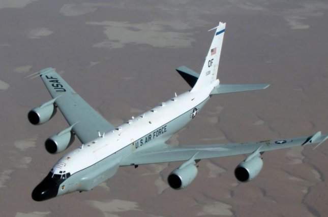 The RC-135W, or Rivet Joint, flew over the Korean Peninsula on Thursday, according to aviation tracker Aircraft Spot. Image courtesy of U.S. Air Force