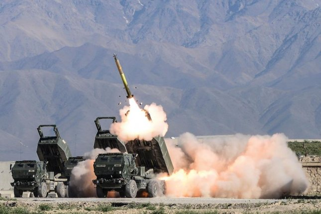 The Guided Multiple Launch Rocket System has greater accuracy than ballistic rockets with a higher probability of kill and a reduced logistics footprint, according to the U.S. Army. Photo courtesy of the U.S. Army