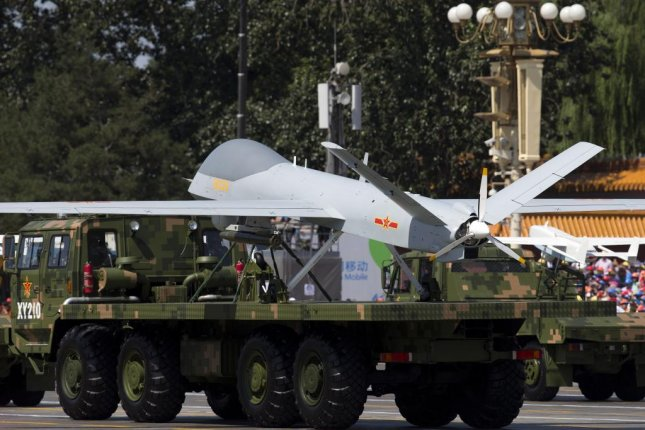 China's Yilong drones could be used to spy on U.S. missile defense on the Korean peninsula. File Photo by Andy Wong/EPA