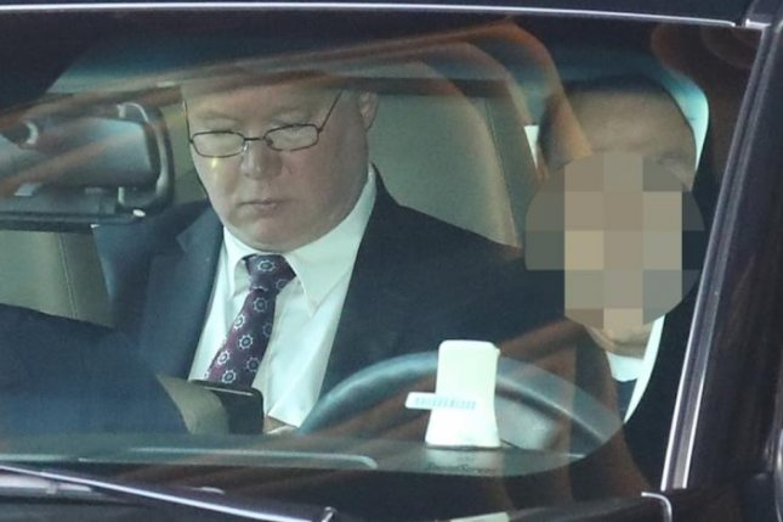Stephen Biegun, U.S. special representative for North Korea, leaves a hotel via car in Seoul on Monday. File Photo by Yonhap/EPA-EFE