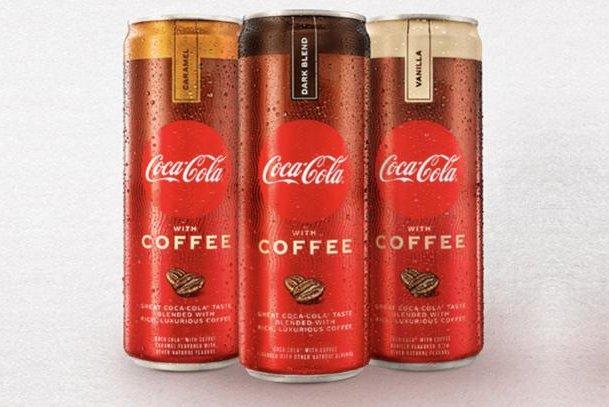 Coca-Cola With Coffee will come in three flavors -- dark blend, vanilla and caramel. Photo courtesy of Coca-Cola