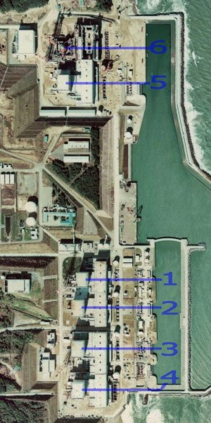 Fukushima nuclear power plant. Credit: National Land Image Information (Color Aerial Photographs), Ministry of Land, Infrastructure, Transport and Tourism.