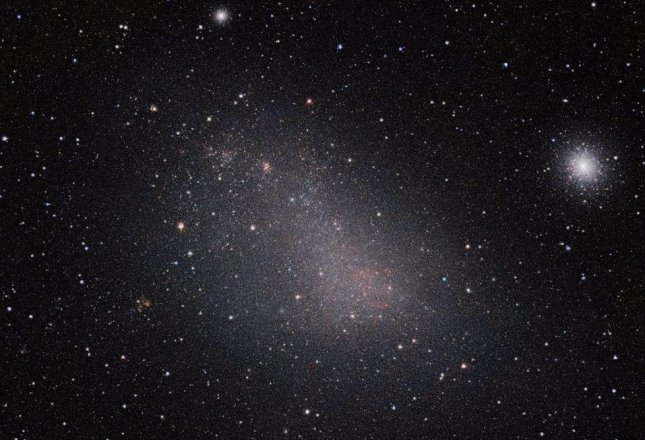 Images of the Small Magellanic Cloud, taken by the European Southern Observatory's VISTA telescope, indicate stars in the galaxy formed more recently than those in adjoining galaxies. Image courtesy of ESO