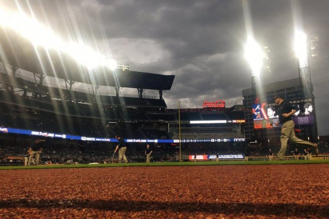 The rain delay in Atlanta could not stop the slumping Nationals as they lost their fourth game in a row. Photo courtesy Atlanta Braves/Twitter