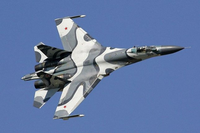 Russia deployed more than 10 fighter jets including Sukhoi SU-27, like the one pictured above, and SU-30 planes to Crimea amid tensions with Ukraine. Photo courtesy Dmitriy Pichugin/Wikipedia Commons