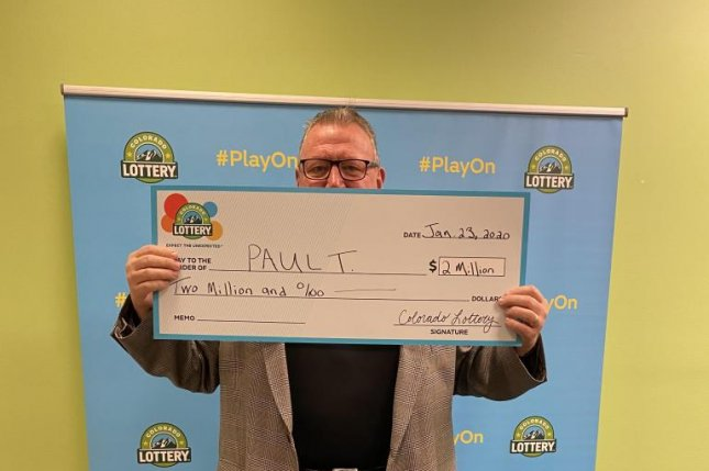 Paul T. won $2 million in the Colorado Lottery for matching five Powerball numbers, but didn't realize he had the winning ticket for more than a week.  Photo courtesy of the Colorado Lottery