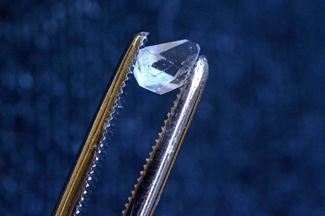 Scientists found the time crystal signature inside a simple crystal of monoammonium phosphate. Photo by Yale