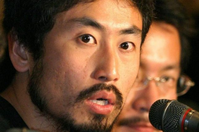 Freelance journalist Junpei Yasuda. Photo by Everett Kennedy Brown/EPA