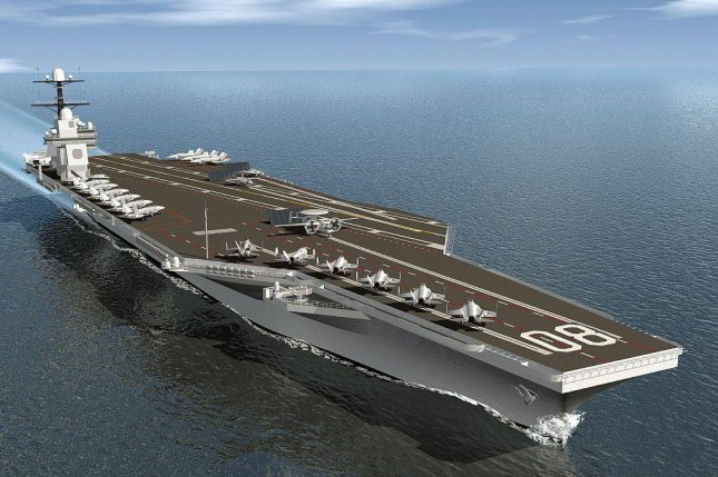 This is an artist's rendering of the future USS Enterprise. Image courtesy U.S. Defense Department/Wikimedia Commons