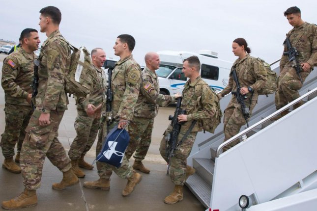 Soldiers return to Ft. Bragg in North Carolina after a no-notice deployment in January amid escalating tensions in Iran. Photo courtesy U.S. Army 82nd Airborne Division/Facebook