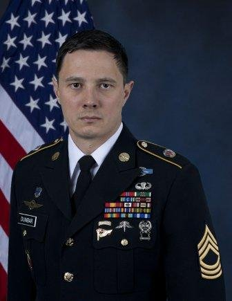 U.S. Master Sgt. Johnathan Dunbar was conducting a mission to kill or capture a known Islamic State member when he and British soldier Sgt. Matt Tonroe were killed by an improvised explosive device in Syria. Photo courtesy United States Army Special Operations Command