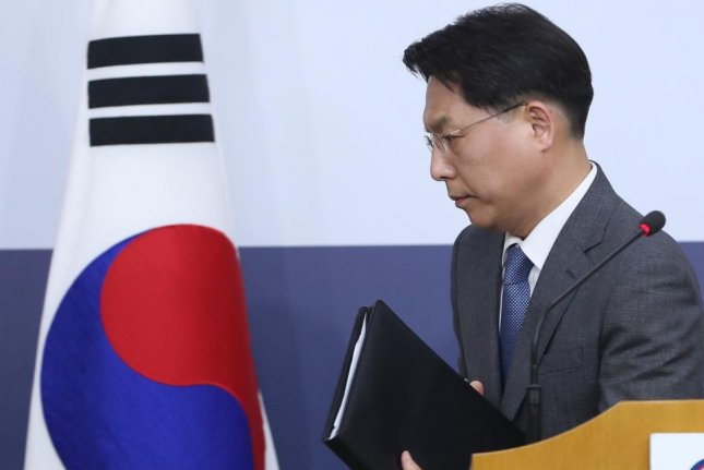 South Korean foreign ministry spokesman Noh Kyu-duk said a vessel with alleged links to shipments of illicit coal was delivering Russian coal. File Photo by Yonhap