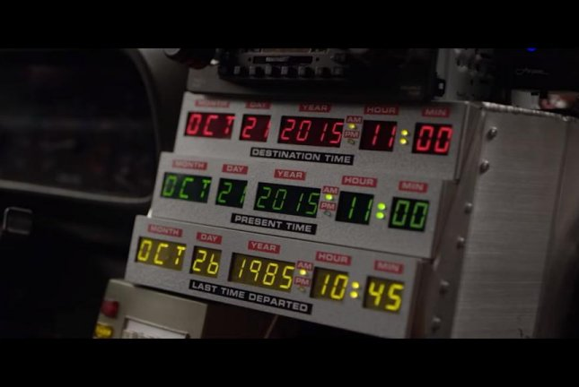 Wednesday, Oct. 21, marks Back to the Future Day, a celebration of the date Marty McFly (Michael J. Fox) arrived in the year 2015 in the 1989 sequel, Back to the Future Part II. The date is being marked with special events including Lyft offering DeLorean rides in New York. Verizon/YouTube video screenshot