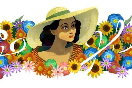 Google is paying homage to actress and philanthropist Dolores Del Rio with a new Doodle. Image courtesy of Google