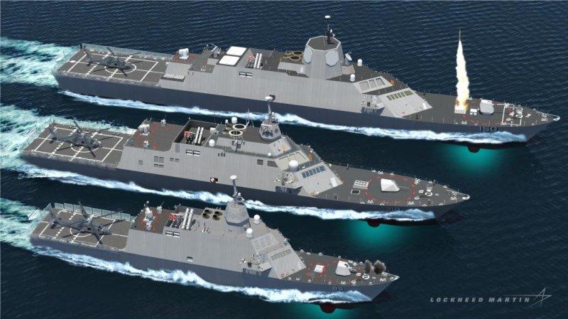 Lockheed Martin's Multi-Mission Combat Ships. Lockheed Martin image.
