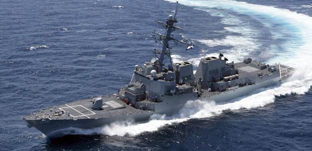 A U.S. Navy Arleigh Burke-class destroyer at sea. Photo courtesy Huntington Ingalls Industries