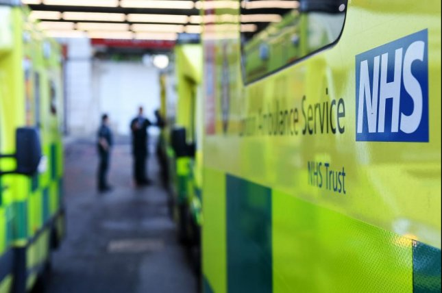 Britain's National Health Service was a target of a ransomware cyberattack on Friday, officials said, which hijacked computer data and demanded $300 for its return. Photo by Andy Rain/EPA