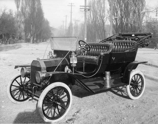 Photograph of a 1910 Model T Ford, in Salt Lake City, Utah, to be used in an advertisement. The images was taken by Harry Shipler of Shipler Commercial Photographers in 1910. File Photo courtesy of Wikipedia