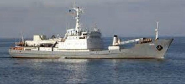 The Russian surveillance ship Liman sank in the Black Sea Thursday after it collided with a freighter. All 78 aboard were rescued. Photo courtesy off the U.S. Naval Institute