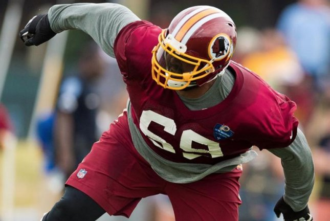 The Washington Redskins have added defensive lineman A.J. Francis to their active roster. Photo courtesy of the Washington Redskins/Twitter.