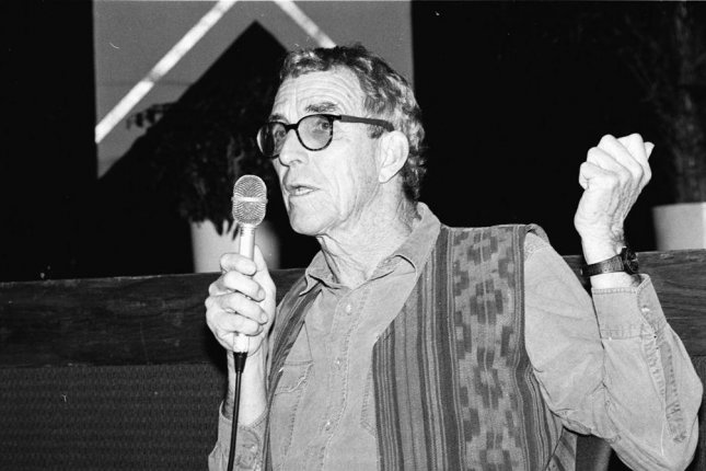 Peter Matthiessen speaking at the Miami Book Fair International in 1991. (CC/MDCarchives)