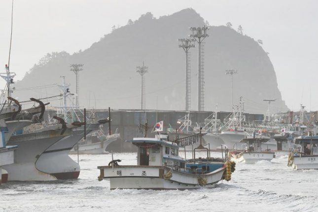 South Korea fishermen who were released last week from North Korea are being investigated for not contacting South Korea's coast guard at the time of the boat's capture. File Photo by Yonhap