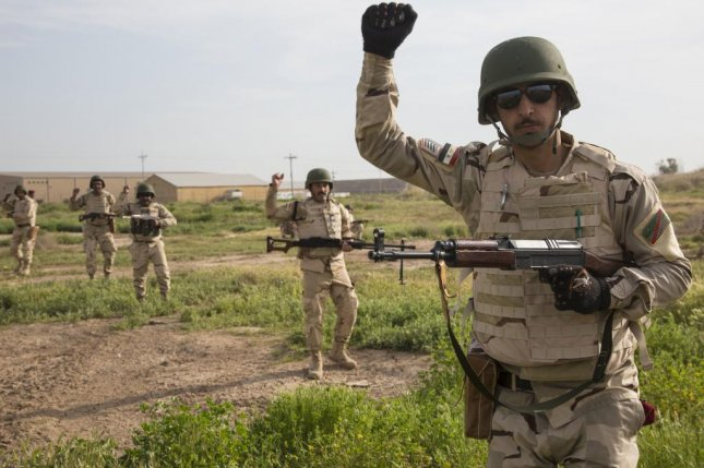 Iraqi soldiers train earlier this year at Camp Taji, Iraq. The U.S. Embassy in Iraq announced Wednesday it will extend a $2.7 billion credit to Iraq, deferring payment on the purchase of ammo and vehicles. U.S. Army photo by Spc. William Lockwood