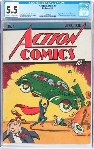 A rare copy of Action Comics #1, which marked the first appearance of Superman, was sold at an auction Thursday for close to $1 million. Photo from Heritage Auctions