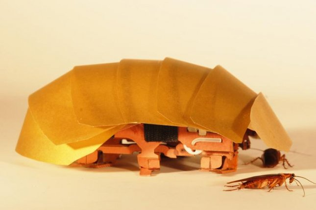 The prototype CRAM robot developed by UC Berkley researchers is inspired by cockroaches, and can squeeze through tight spaces. Photo courtesy PolyPEDAL Lab, UC Berkeley