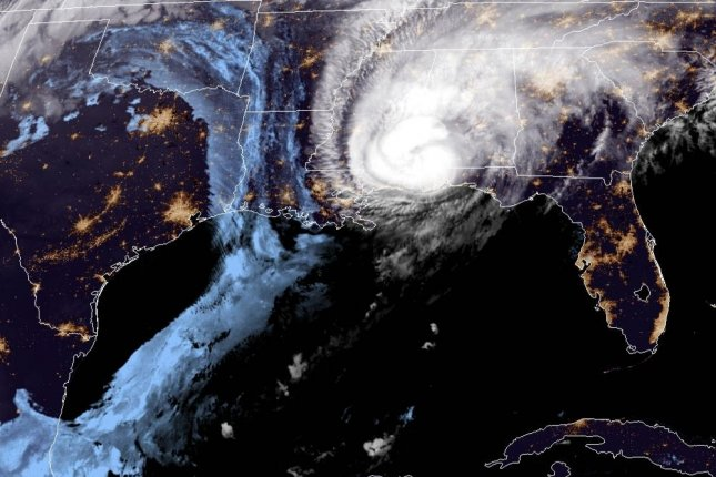 Hurricane Zeta weakened to a Category 1 storm after making landfall. Photo courtesy of NOAA