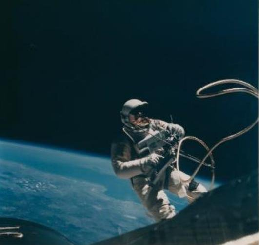 Among the photos up for auction by Christie's is this picture of astronaut Ed White during the first U.S. spacewalk. Photo courtesy of Christie's