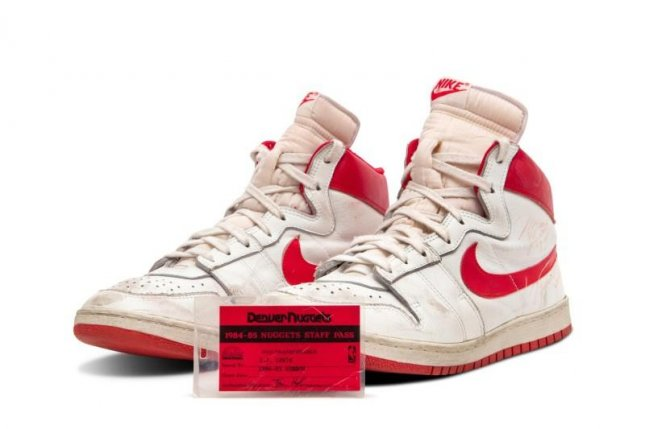Pair of Michael Jordan's game-worn shoes from rookie year up for auction