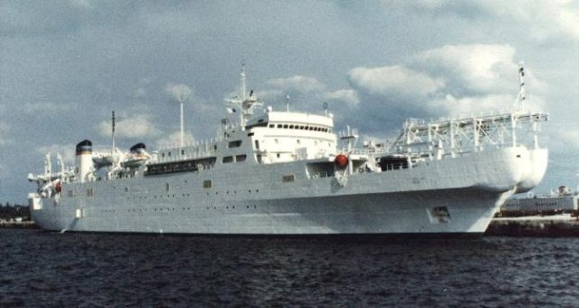 The USNS Zeus is the only cable-laying ship built specifically for the U.S. Navy. The Zeus is preparing to undergo its regular overhaul and dry docking. Photo courtesy of the U.S. Navy