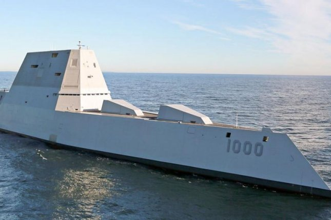 In an address on Wednesday, Chief of Naval Operations Adm. Milke Gilday called for a new class of destroyers, with similar capabilities to the new USS Zumwalt, pictured, but smaller. Photo courtesy of U.S. Navy