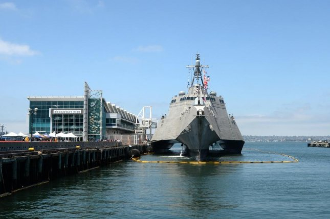 Austal USA and Lockheed Martin have been contracted by the U.S. Navy for construction of the next Littoral Combat Ship, the Freedom-class LCS 27. Pictured, the Independence-class LCS USS Gabrielle Giffords. Photo by Petty Officer 1st Class Melissa Russell/U.S. Navy