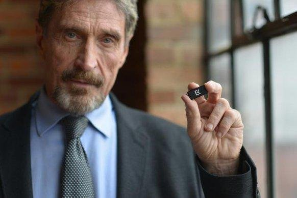 McAfee Antivirus developer John McAfee has announced he will seek the Libertarian nomination for president. Photo by John McAfee/Twitter