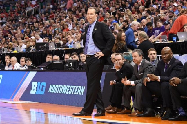 Northwestern extended the contract of head coach Chris Collins through the 2024-25 season. Photo courtesy Northwestern men's basketball via Twitter