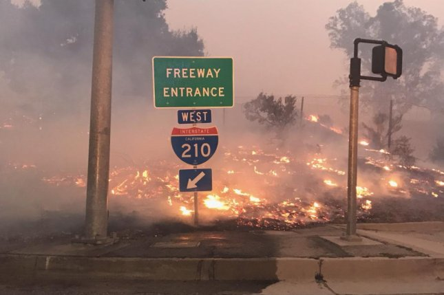 The Saddleridge Fire was 72 percent contained as of Friday evening. Photo courtesy of the California Department of Transportation