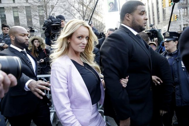 A California Superior Court judge has ordered President Donald Trump to pay Stormy Daniels $44,100 in attorney fees. File Photo by John Angelillo/UPI