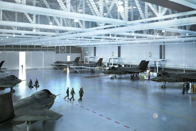 A computer rendering of a future Royal Air Force F-35 engineering facility. U.K. Ministry of Defense photo
