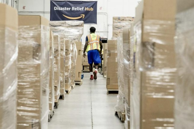Amazon's new disaster relief hub is located in Atlanta to position it close to the U.S. Southeast and Caribbean, locations prone to direct hits from hurricanes. Photo courtesy of Amazon