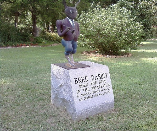 A flickr photo of the Br'er Rabbit statue which was stolen from the Uncle Remus Museum in Eatonton, Georgia. Flickr/MrGrigg