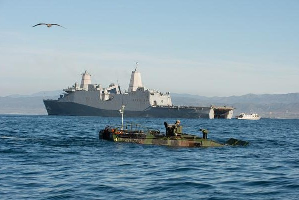 BAE Systems was awarded a$184 millioncontract option to produce 36 more Amphibious Contract Vehicles for the U.S. Marines. Photo courtesy of BAE Systems