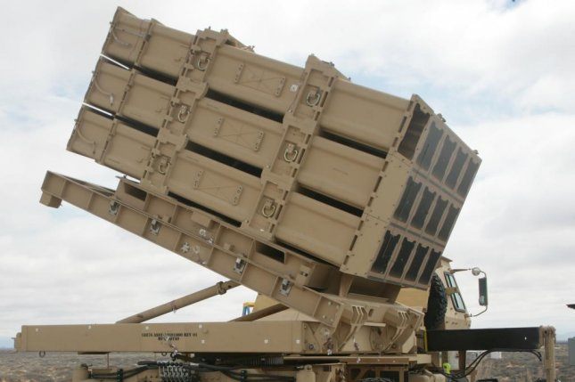 The Multi-Mission Launcher, mounted on a tactical truck, has launched a Lockheed Martin mini hit-to-kill missile. Photo courtesy U.S. Army