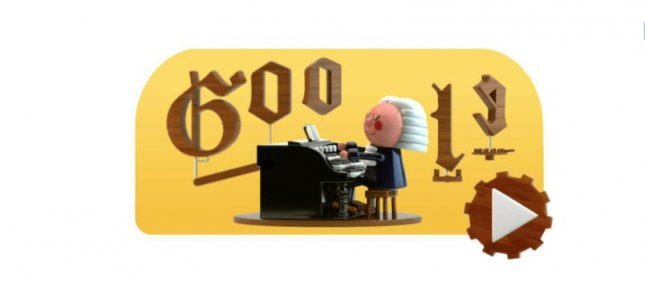 Google is paying homage to composer Johann Sebastian Bach with a new interactive Doodle. Image courtesy of Google