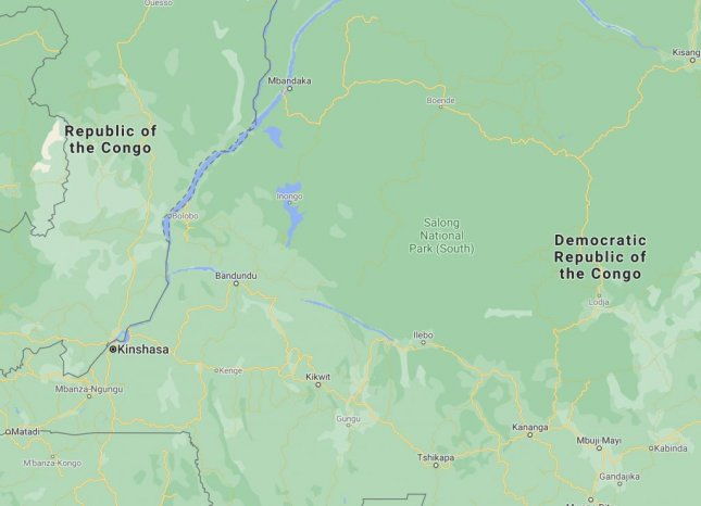 The boat had left the Democratic Republic of Congo capital of Kinshasa heading north up the Congo River before capsizing Sunday night. Image courtesy of Google Maps/Website